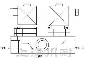 三通不锈钢电磁阀结构图