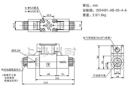 DSG-02-3C 系列液压电磁阀安装图