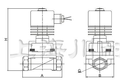 先导式高温电磁阀结构图