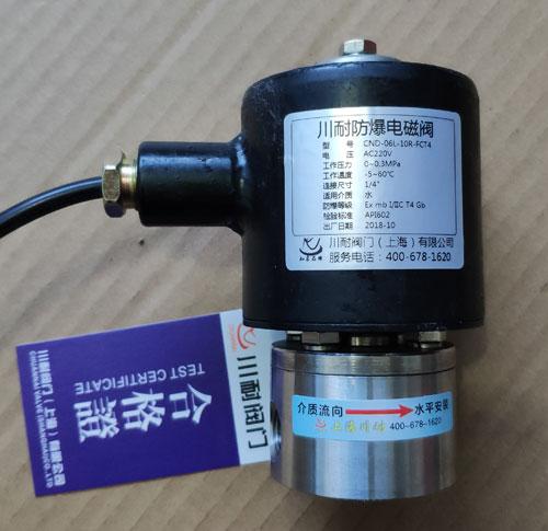 防爆燃气直动式电磁阀